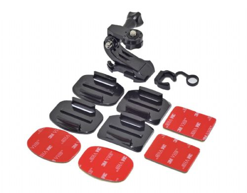 Helmet Mount Kit Curved or Flat Surface for Action Camera Digital Cameras GoPro